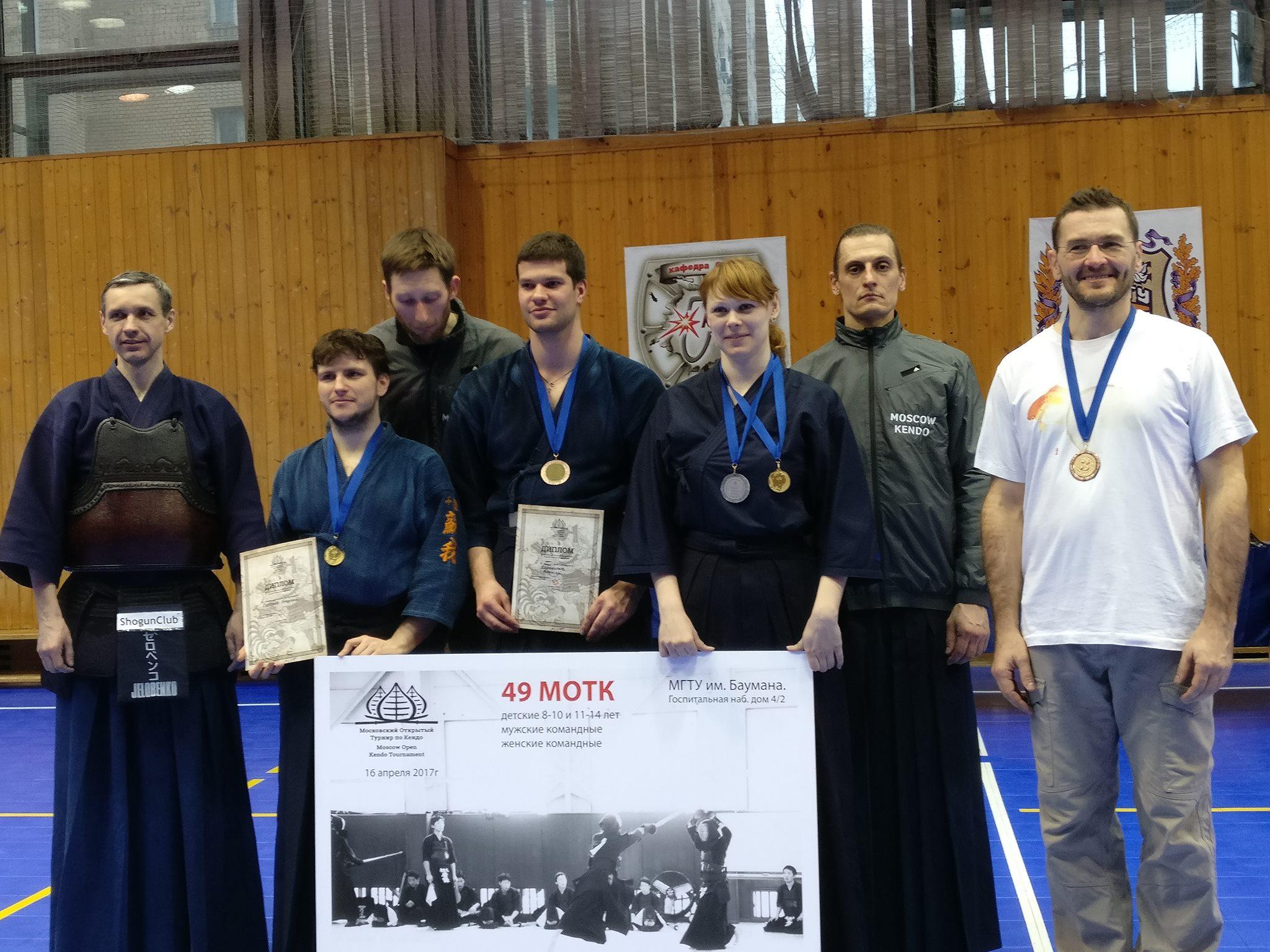 Результаты 49-го Московского открытого турнира по Кэндо