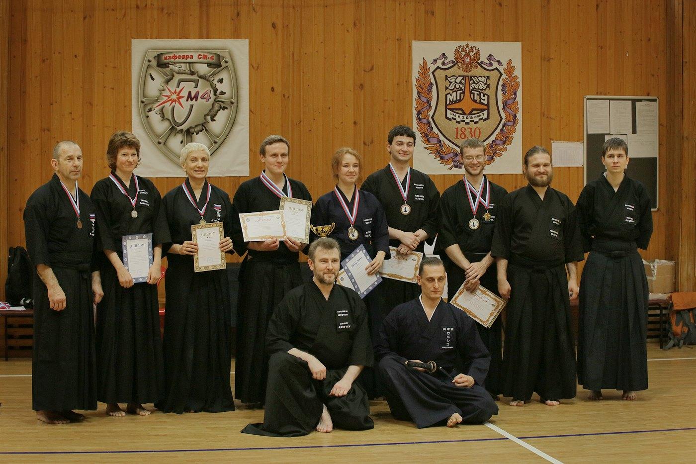 Поздравляем студентов-членов Клуба кендо и иайдо «БауманКан» с успешной аттестацией по иайдо в категории Shodan (1-й дан)