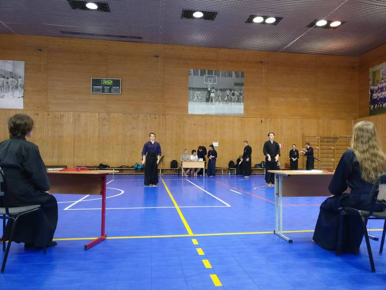 Поздравляем студентов, членов клуба кендо и иайдо «БауманКан», с успешной аттестацией по иайдо