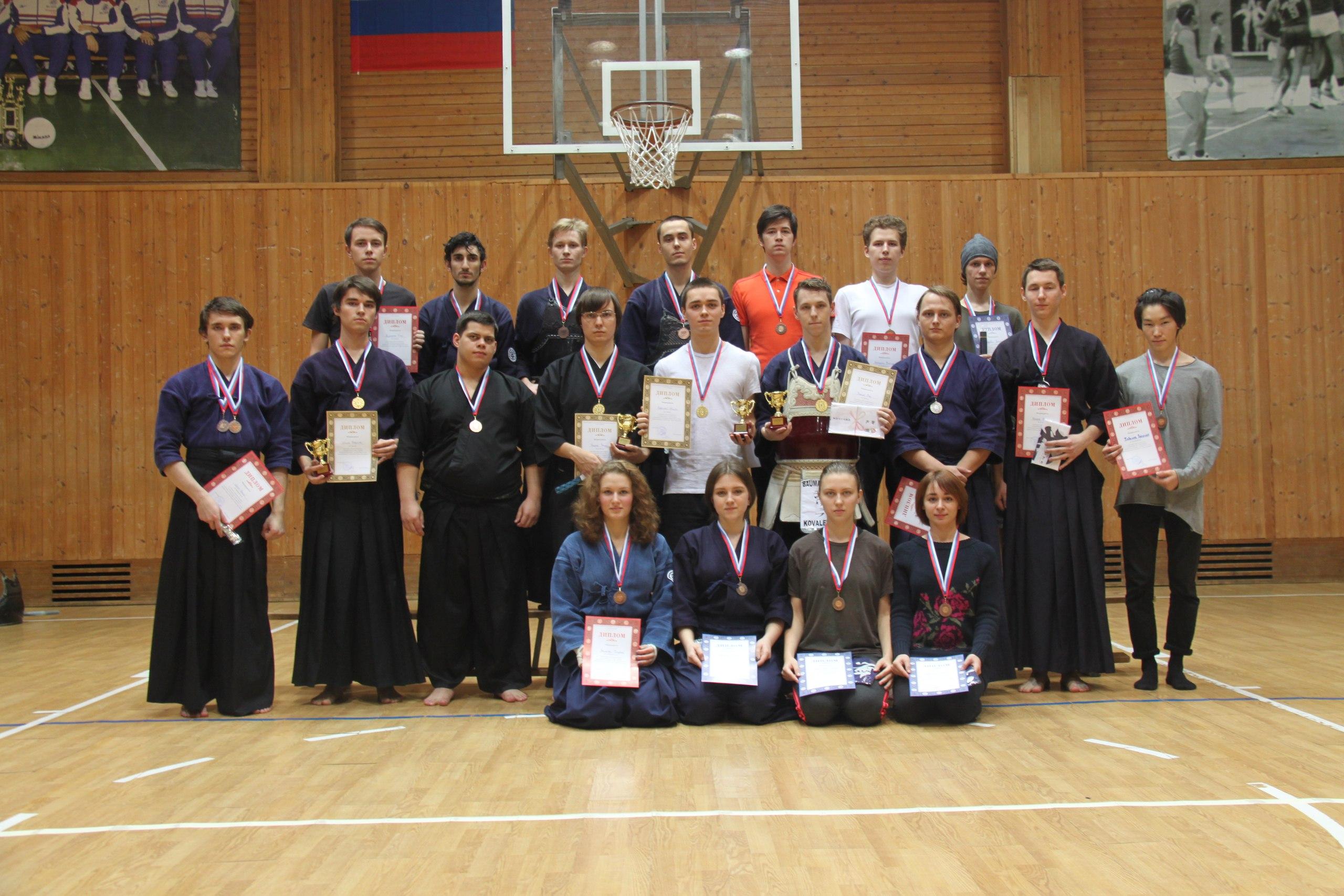 Результаты соревнований по иайдо и кендо 30 октября 2016 года